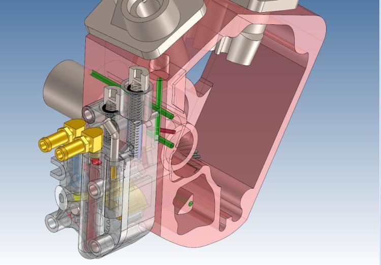 ハーレー ショベルヘッドのオイルポンプを3Dモデルで作成