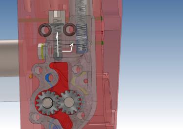 ハーレー ショベルヘッドのオイルポンプの加圧ルート