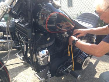 ショベルヘッド FXS80 ローライダー プラグコード交換