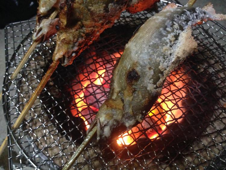 琵琶湖の鮎どっとこむの鮎を塩焼き