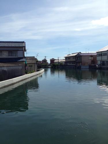 長崎 島原 大潮の満潮時は洪水みたいになる