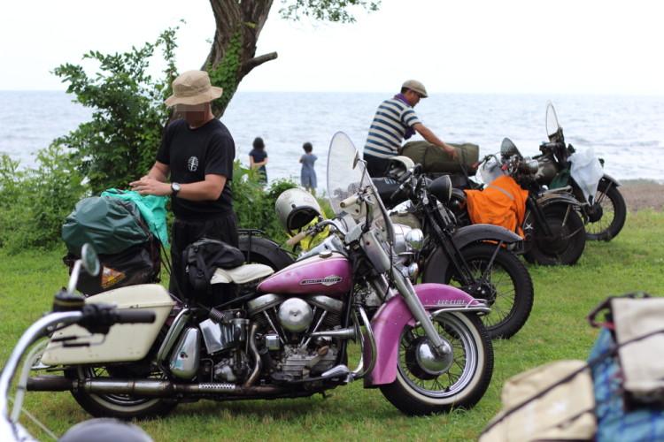 琵琶湖旧車MTG 2016 takuさんのduogulide ハーレー パンヘッド panhead