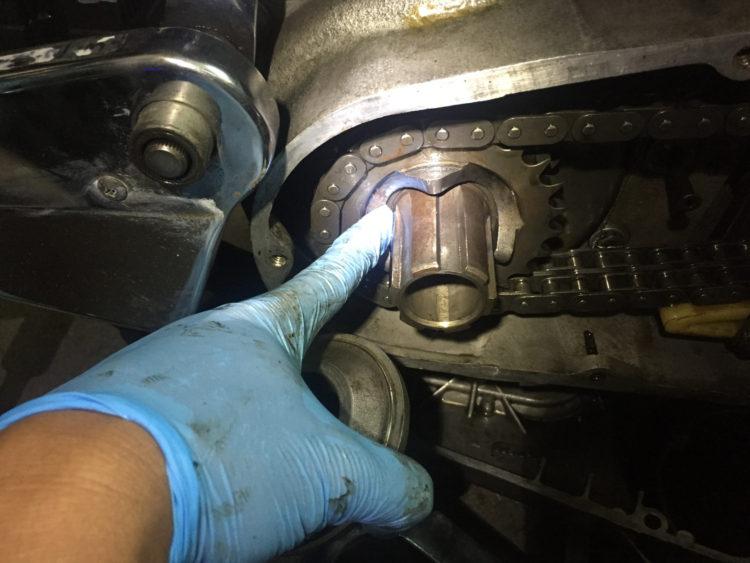 ショベルヘッドのコンペンセータ フロントエンジンスプロケ挿入
