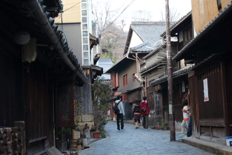 福山 鞆の浦 の古い町並み 石畳の道