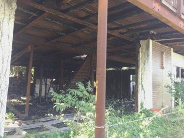蒲郡 三ヶ根山 廃墟 三ヶ根茶屋 火災の跡