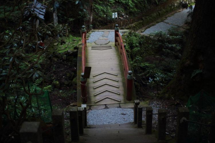 室生寺の奥の院の入口にある橋