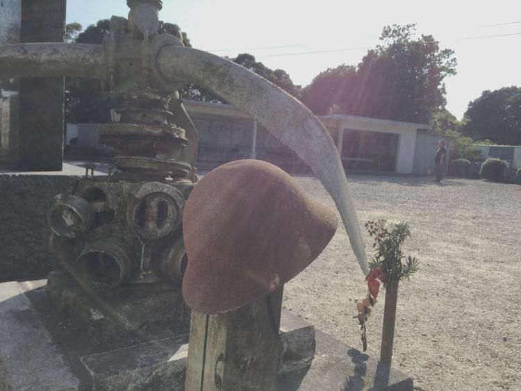 蒲郡の三ヶ根山にあるフィリピン観音霊場 比島観音霊場 以前は零戦のエンジンといわれてた 瑞星発動機 ハ102
