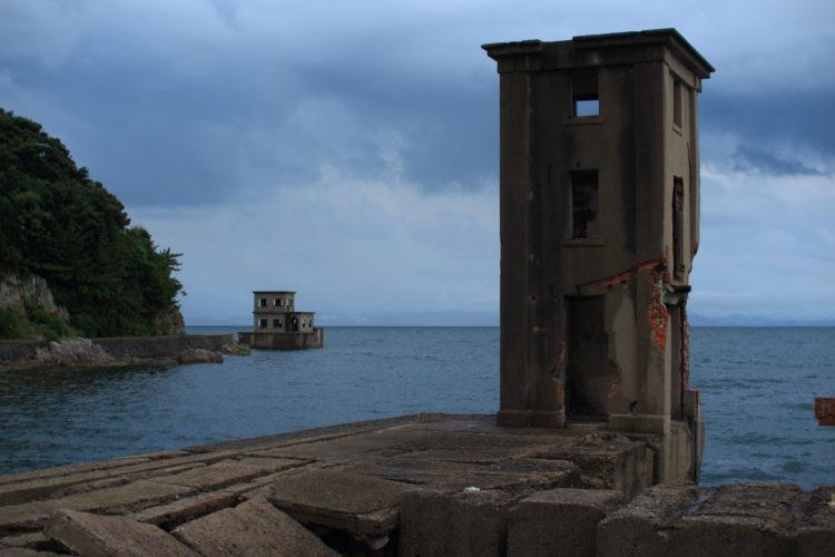 川棚 片島魚雷発射試験場跡 外の観測所跡から