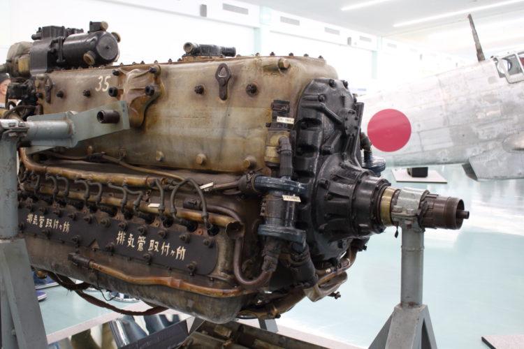 三式戦飛燕の発動機 ハ140 シャフト部